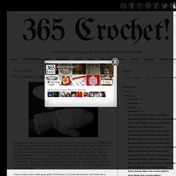 365 Crochet!: Fast Blanket Mittens -free crochet pattern-