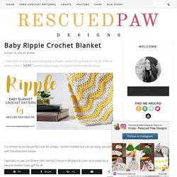 Mini Ripple Crochet Blanket from Rescued Paw Designs