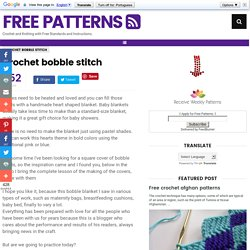 Crochet bobble stitch ~ Free Patterns