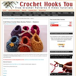 Craft Show Crochet Baby Booties Pattern - Newborn – Crochet Hooks You