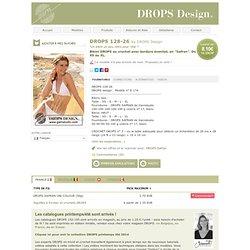 """Bikini DROPS au crochet avec bordure éventail, en """"Safran"""". Du XS au XL"""