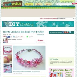 Crochet Bead and Wire Bracelet