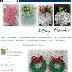 Mini Christmas Wreath Free Pattern