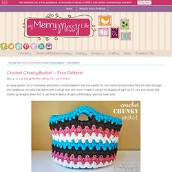 Crochet Chunky Basket – Free Pattern!
