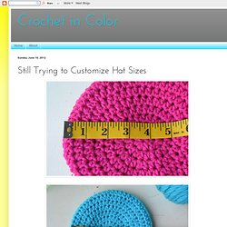 Still Trying to Customize Hat Sizes
