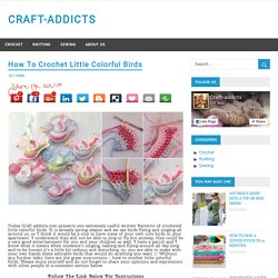 How To Crochet Little Colorful Birds – CRAFT-ADDICTS