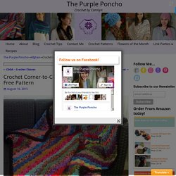 Crochet Corner-to-Corner Scrap Yarn Blanket – Free Pattern – The Purple Poncho
