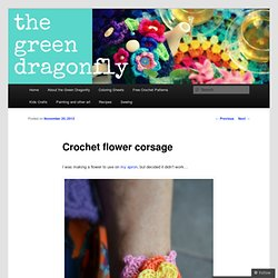 Crochet flower corsage
