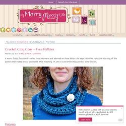 Crochet Cozy Cowl – Free Pattern