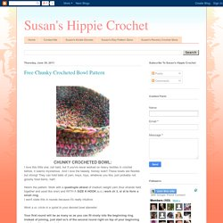 Free Chunky Crocheted Bowl Pattern
