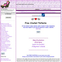 Crochet Pattern Websites : Free crochet pattern, free crocheting patterns