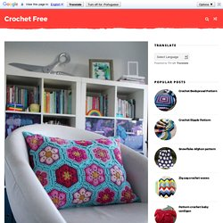 Crochet cushion with African flower - Learn how to make - Crochet Free