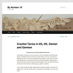 Crochet Terms in US, UK, Danish and German