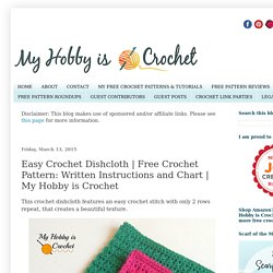 Free Crochet Pattern: Written Instructions and Chart