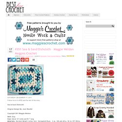 #351 Sea & Sand Dishcloth