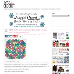 #307 Ruffle Granny Crochet Dishcloth