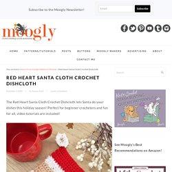 Red Heart Santa Cloth Crochet Dishcloth - Free Pattern - moogly