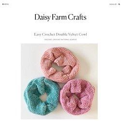 Easy Crochet Double Velvet Cowl