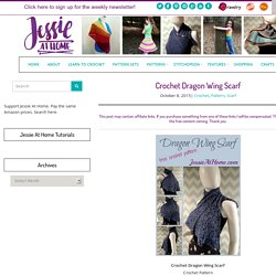 Crochet Dragon Wing Scarf