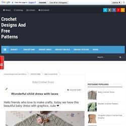 Baby Crochet Dress - Crochet Designs And Free Patterns