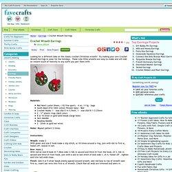 Crochet Wreath Earrings
