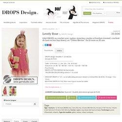 """Lovely Rose - Gilet DROPS au crochet avec raglan, manches courtes et bordure éventail, crocheté de haut en bas (top down), en """"Cotton Merino"""". Du 12 mois au 10 ans. - Free pattern by DROPS Design"""
