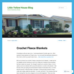 Crochet Fleece Blankets