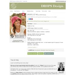 "DROPS 127-46 - Crochet DROPS hat with large brim and crochet flower in ""Lin"" or ""Belle"". - Free pattern by DROPS Design"
