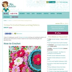 16 How To Crochet Flowers and Bag Patterns
