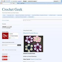 Cheerful Crochet Flower