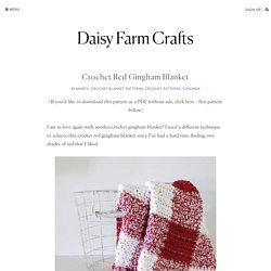 Crochet Red Gingham Blanket