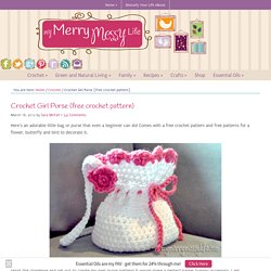 Crochet Girl Purse {free crochet pattern}