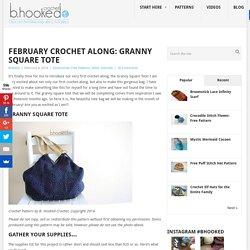 Crochet Granny Square Tote