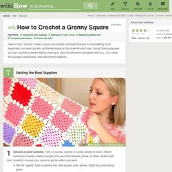 How to Crochet a Granny Square: 16 Steps