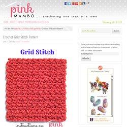 Crochet Grid Stitch Pattern