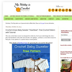 "Crochet Unisex Baby Sweater ""Heartbeat""- Free Crochet Pattern with Tutorial"