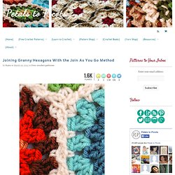 Crochet Crochet Hexagon Pattern - Join As You GoPetals to Picots