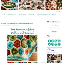 Crochet Hexagon Afghan Pattern and Tutorial