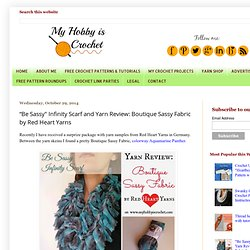 """Be Sassy"" Infinity Scarf and Yarn Review: Boutique Sassy Fabric by Red Heart Yarns"