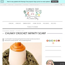 Chunky Crochet Infinity Scarf -Flamingo Toes