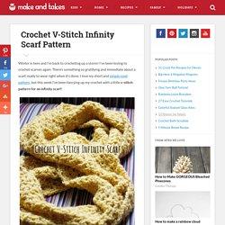 Crochet V-Stitch Infinity Scarf Pattern