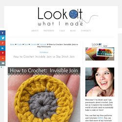 How to Crochet: Invisible Join vs Slip Stitch Join