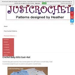 Crochet Baby Glitz Coat-Hat Free Crochet Pattern - justcrochetblog