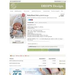 """Baby Blues Hat - Bonnet rayé DROPS au crochet, en """"Karisma"""". Taille naissance à 4 ans. - Free pattern by DROPS Design"""