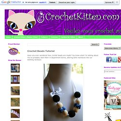 Mommy Teething Necklace - Crochet Beads Tutorial