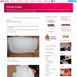 Châle au crochet Layette : Tricots Folies
