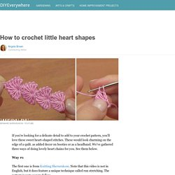 How to crochet little heart shapes
