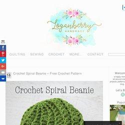 Crochet Spiral Beanie – Free Crochet Pattern » Loganberry Handmade