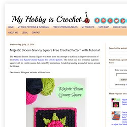 Majestic Bloom Granny Square Free Crochet Pattern with Tutorial