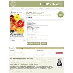 """Fleur DROPS au crochet: Marguerite, en """"Safran"""